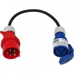 CEE 5Pol (400V) auf CEE 3Pol(230V) - nur eine Phase verwendet