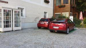 E-Parkplatz belegt.